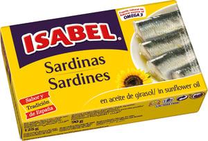 ISABEL Sardinky ve slunečnicovém oleji