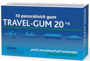 TRAVEL- GUM 20MG POR GUM 10