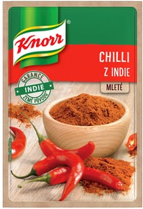 Knorr Chilli z Indie mleté