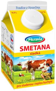 Moravia Smetana na vaření čerstvá 12 %