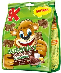 Kubík sušenky s kakaem a máslem