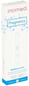 Intimed Pregnancy Midstream Test testovací pero pro určení ranného stádia těhotenství, pro domácí použití, 1ks