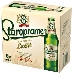 Staropramen Ležák pivo světlé 8x0,5l