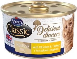 Butcher's Classic Delicious Dinners Konzerva s kuřecím a krůtím masem