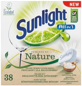 Sunlight All in One Nature tablety do myčky nádobí 38ks