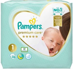 Pampers Premium Care Newborn 2kg-5kg (velikost 1) 26 ks