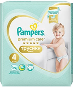 Pampers Premium Pants Carry Pack 9-14 kg (velikost 4) 22 ks