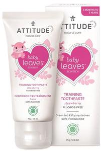 Attitude Baby leaves Dětská zubní pasta s příchutí jahod