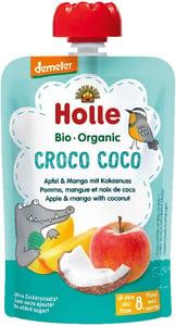 Holle BIO Ovocné pyré Croco Coco jablko - mango - kokos