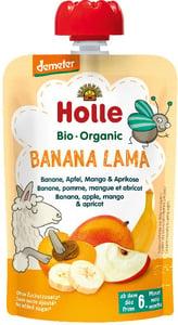 Holle BIO Ovocné pyré BANANA LAMA banán-jablko-mango-meruňka