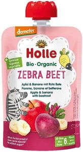 Holle BIO Ovocné pyré Zebra Beet jablko-banán-červená řepa