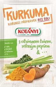 Kotányi Kurkuma, citronová tráva a zelený pepř