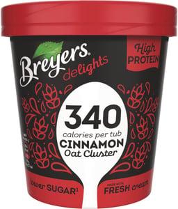 Breyers Delights Cinnamon Oat Cluster proteinová zmrzlina