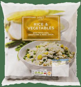 Marks & Spencer Směs rýže, zeleniny a smažené cibulky