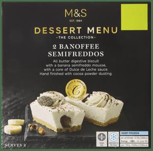 Marks & Spencer Banánový dezert s vanilkou a karamelem (2ks)