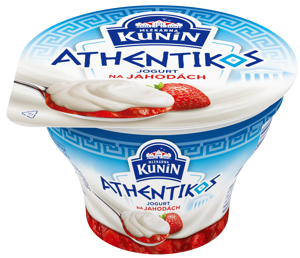 Kunín Athentikos jogurt na jahodách