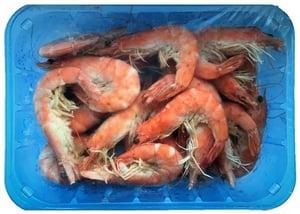 AG Seafood Krevety celé vařené 30/40 (mražené)