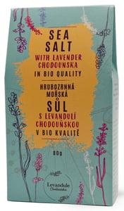 Levandule Chodouňská BIO Hrubozrnná mořská sůl