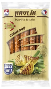 Havlík Trvanlivé tyčinky se sýrem a solí - Cibulové