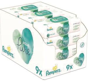 Pampers Aqua Pure vlhčené ubrousky 9x48 ks