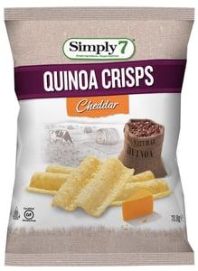 Simply 7 Quinoa chipsy s příchutí cheddaru