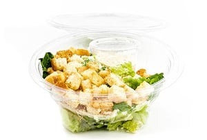 Sklizeno Caesar salát s kuřecím masem