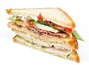 Sklizeno Club sendvič