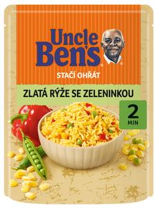 Uncle Ben's Stačí ohřát Zlatá rýže se zeleninou