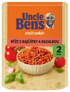 Uncle Ben's Stačí ohřát Rýže s rajčaty a bazalkou