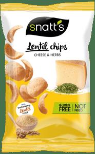 Snatt´s Čočkové chipsy sýrové s bylinkami