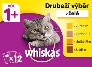 Whiskas kapsičky Drůbeží výběr v želé 12 × 100g