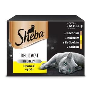 Sheba Delicacy kapsičky pro dospělé kočky Drůbeží výběr v želé 12 × 85g