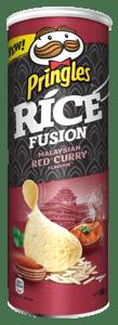 Pringles rýžové s příchutí červeného kari