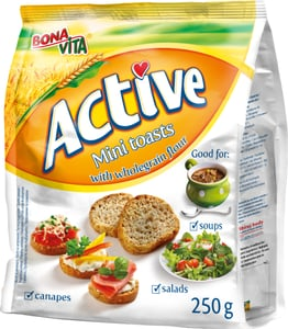 Bonavita Active Mini toast celozrnný