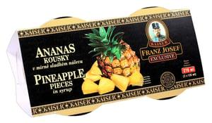 Franz Josef Kaiser Ananas kousky v mírně sladkém nálevu duo pack