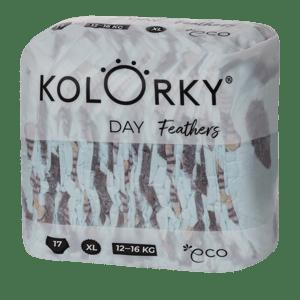 Kolorky Day XL (12-16 kg) - peří - jednorázové EKO plenky