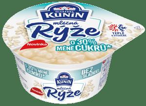 Mlékárna Kunín Mléčná rýže se sníženým obsahem cukru