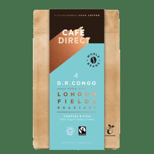 Cafédirect BIO zrnková káva Congo s tóny medu a hořké čokolády v kompostovatelném obalu