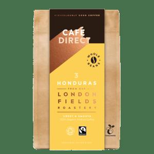 Cafédirect BIO zrnková káva Honduras s tóny karamelu a oříšků v kompostovatelném obalu