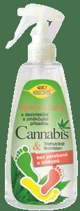 Bione cosmetics BIO Cannabis sprej na nohy s dezinfekční přísadou