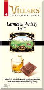 Villars mléčná čokoláda s whisky