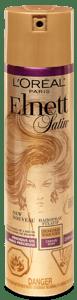 L'Oréal Paris Elnett Satin Lak na vlasy silná fixace s arganovým olejem