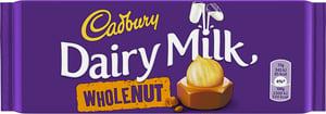 Cadbury mléčná čokoláda s celými ořechy