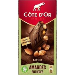 Cote d´Or hořká čokoláda s celými mandlemi