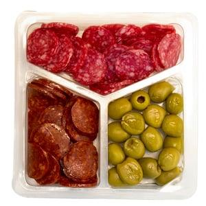 Caula Tapas salami, peperoni a olivy