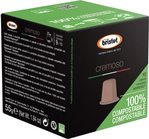 Bristot kapsle Cremoso 100% kompostovatelné