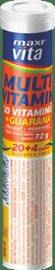 MaxiVita Multivitamin + guarana s příchutí pomeranče