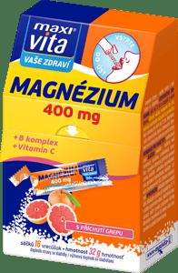 MaxiVita Magnézium 400mg, B komplex a vitamin C s příchutí grepu