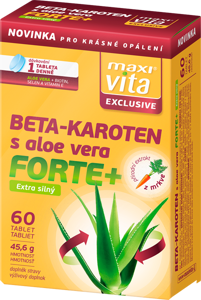 MaxiVita Exclusive Beta-karoten s aloe vera forte+