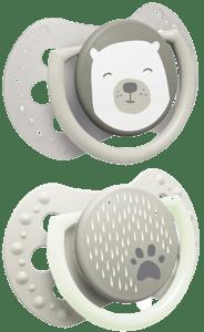 LOVI Dudlík silikonový dynamický BUDDY BEAR 0-3 měsíce